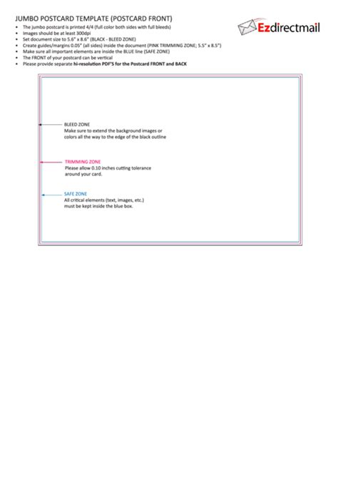 jumbo postcard template 62 postcard templates free to in pdf