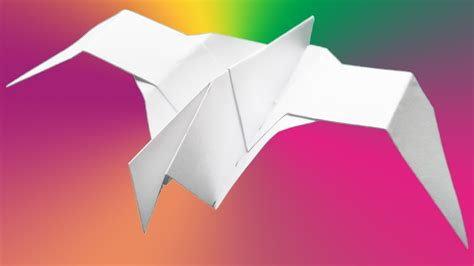 origami how to make a paper bird tutorial