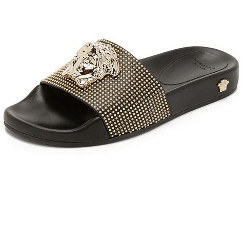 versace sandals versace medusa slides 880 liked on polyvore featuring