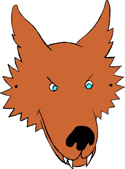 wolf clipart wolf mask pencil   color wolf clipart
