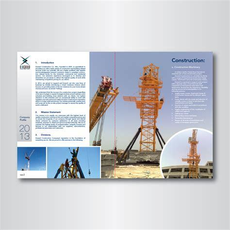 design build company profile elegant modern it company graphic design for exceed