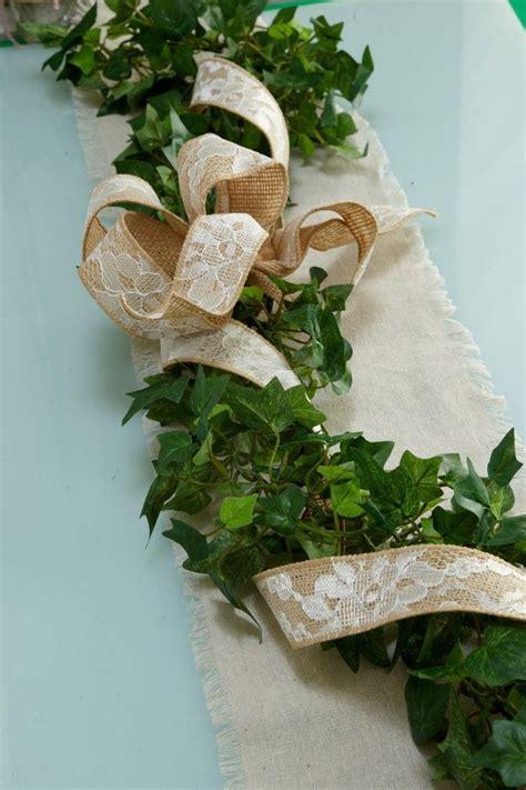 winter wedding table decoration garland english ivy
