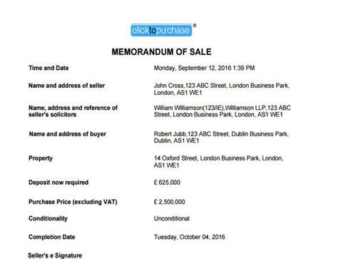 sle of memorandum clicktopurchase 174 seller platform