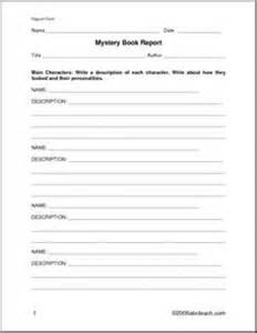 Mystery Book Report Template Middle School by Book Report Form Non Fiction Elem Middle A Book Report Form With Targeted Questions