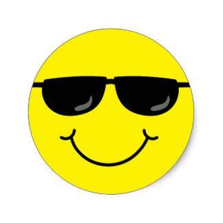Smiley Mit Sonnenbrille Aufkleber by Sonnenbrille Emoji Aufkleber Zazzle De