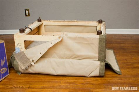 diy ottoman reupholstery diy upholstery leather ottoman makeover