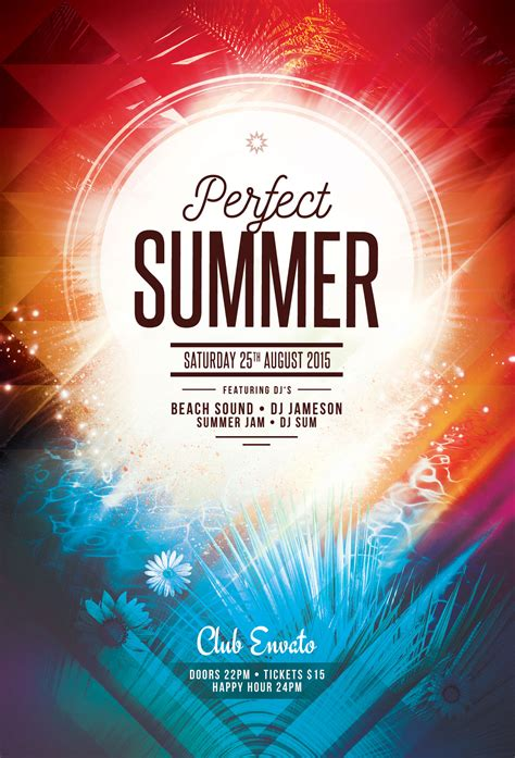 template photoshop summer perfect summer flyer template download psd file 6