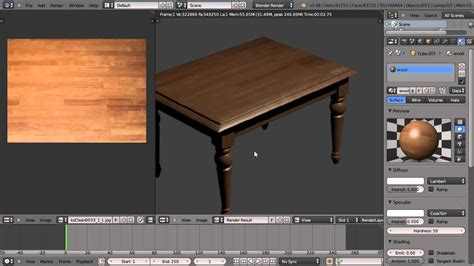 tutorial blender table texturing a wooden table in blender 2 66 youtube