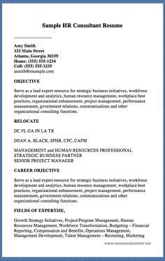 hr consultant cv exles palanca letter sle http resumesdesign palanca