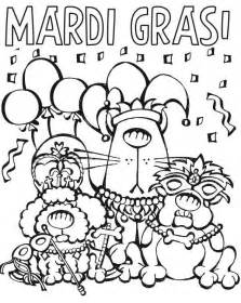 Cartoon Characters Parade On Mardi Gras Coloring Page sketch template