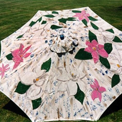 Magnolia Hand Painted Outdoor Beach And Patio Umbrella Paint Patio Umbrella
