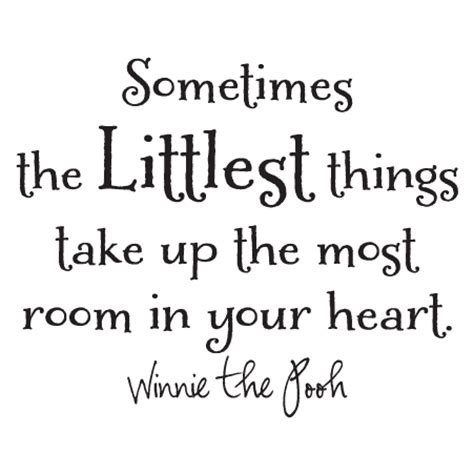 Winnie The Pooh Wall Stickers the littlest things wall quotes decal wallquotes com