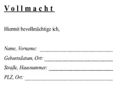 Vollmacht Briefvorlage Allgemeine Vollmacht Kostenloser Vordruck