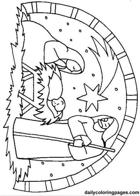 coloring pages christmas scene http dailycoloringpages com images nativity scene bible