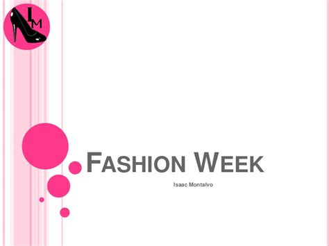 design powerpoint slideshare powerpoint final fashion week