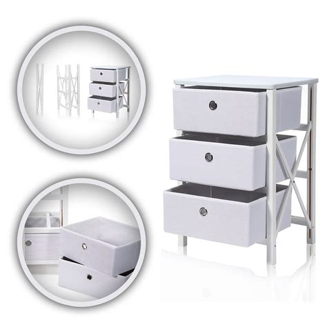 Ebay Commode by Commode 3 Tiroirs Armoire Pliable Rangement Meuble