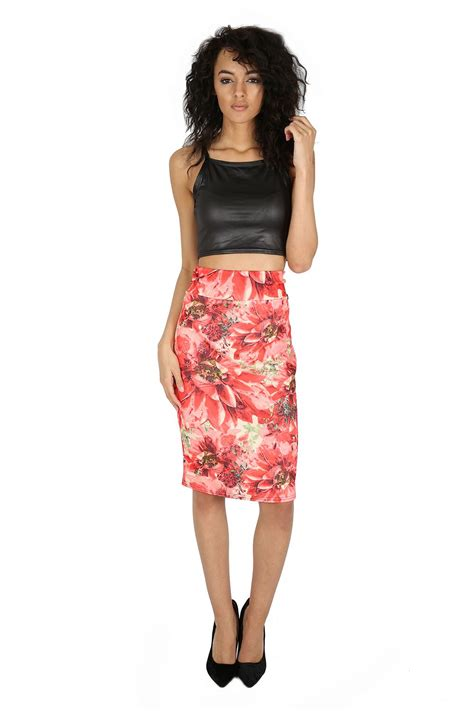 New Recommended Pencil Skirt Detail Ada Di Picture Yaaa womens printed hi waist stretchy bodycon pencil midi skirt plus size