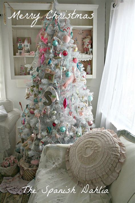 my white shabby chic christmas tree 2012 christmas trees pinterest shabby chic christmas