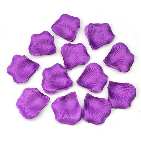decorative flower new 500pcs purple silk rose petals wedding flower scatters