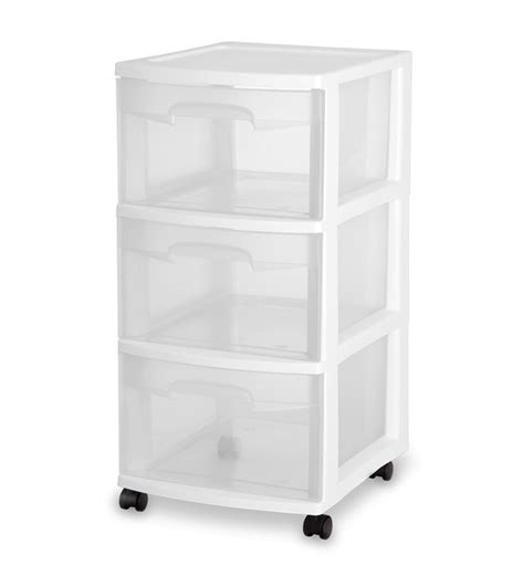 sterilite 3 drawer cart white by sterilite