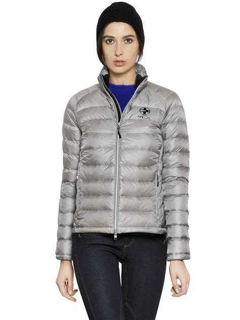 Jaket Silver Adventure Polos polo ralph quilted jacket in metallic for lyst