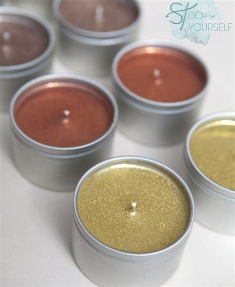how to make a glitter candle diy home decor 187 the real how to make diy glitter tin candles it s super easy