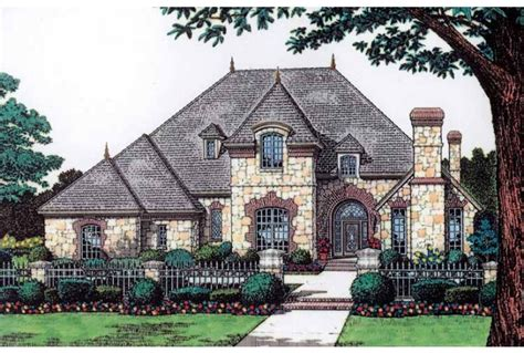 Chateau Style House Plans | luxury french chateau home french stone chateau house plan