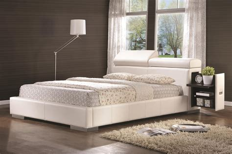 white queen size bed coaster 300379q white queen size leather bed steal a