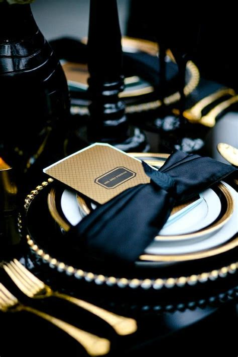 black and gold table setting gold and black table settings ideas