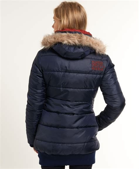 Superdry Sporttas new womens superdry sports puffer jacket navy ebay