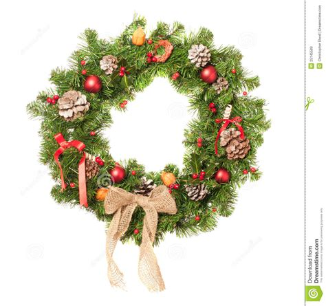 decorated christmas wreath royalty free stock images