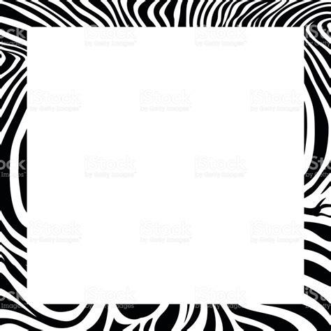 zebra pattern frame zebra print border frame design stock vector art more