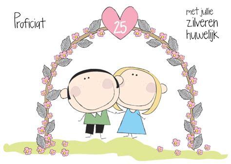 25 jaar getrouwd zilver felicitatie proficiat zilveren huwelijk kaartje2go