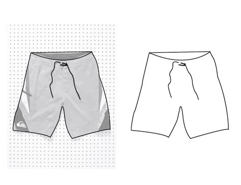 shorts template 10 vector boardshorts template