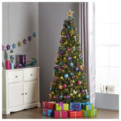 tesco 6ft pre lit evergreen tree082799801 buy tesco 6 5ft evergreen slim pop up tree from our trees range tesco