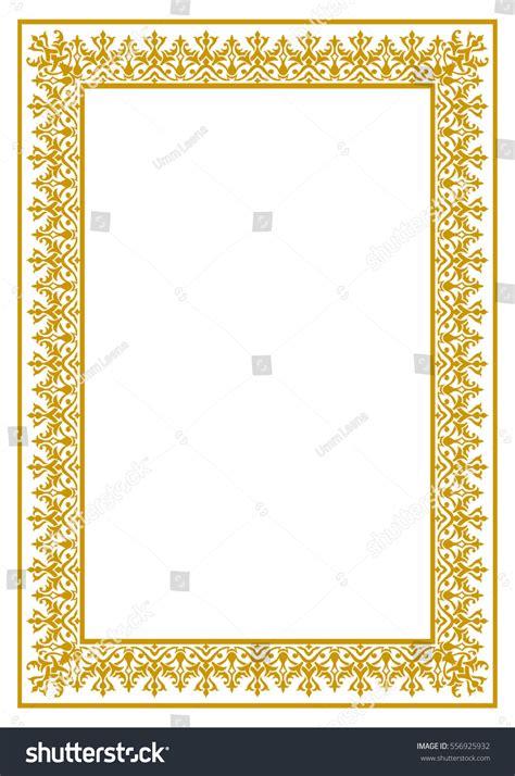 set of arabesque pattern frame border geometric islamic pattern arabesque rectangle frame stock