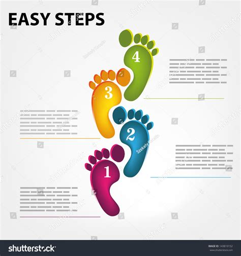 Vector Template For A Easy Step By Step Brochure Web 143819152 Shutterstock Step By Step Template