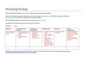 Marketing And Sales Strategy Template by Marketing Strategy Template Vnzgames