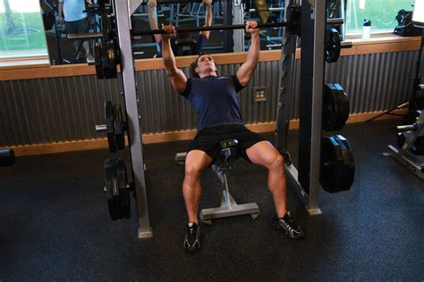 incline bench for shoulders smith incline shoulder raise exercise guide and video