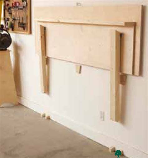 wall bench design fold flat workbench woodworking plan from wood magazine