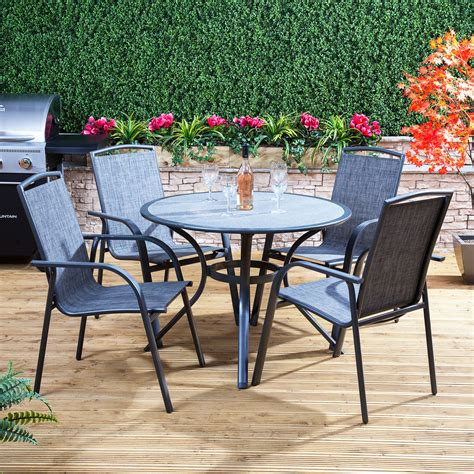 alfresia arizona round garden furniture set outdoor