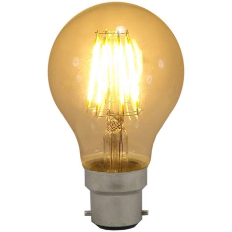 led filament gls 6w bc b22d 2700k warm white non dimmable