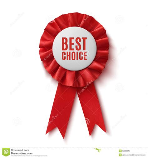 best choice realistic red fabric award ribbon stock