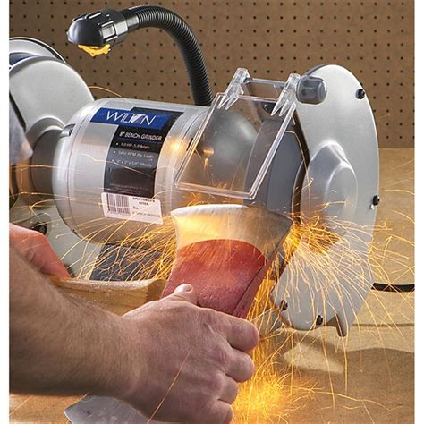 wilton bench grinder wilton 174 8 quot bench grinder 136986 power tools at sportsman s guide