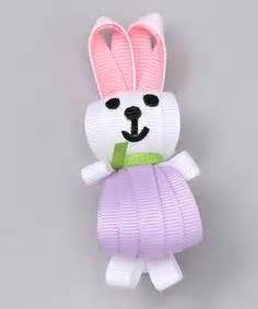Sweet Bunny Hairclip ribbon easter hair bows and on ribbon