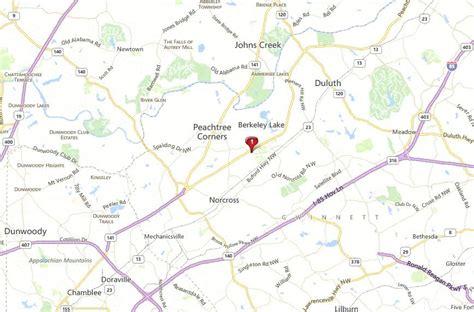 map of norcross berkeley townhomes in norcross ga home in norcross
