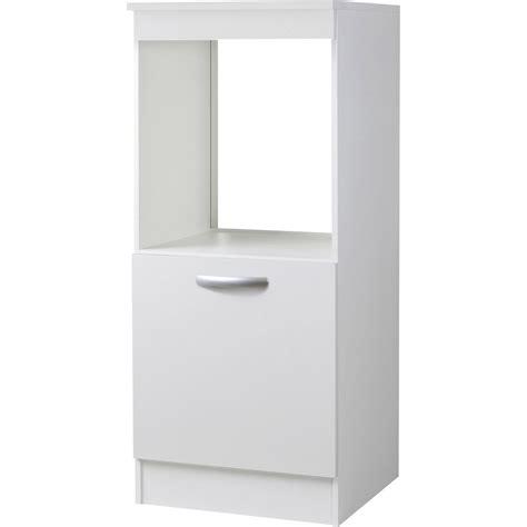Meuble de cuisine 1/2 colonne 1 porte, blanc, h140.4x l60x