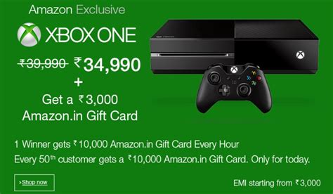 amazon xbox gift card amazon india is back with new xbox one deal get a rs 3000