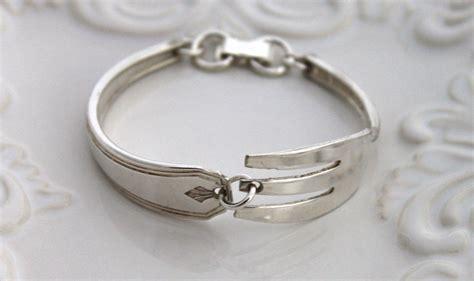 make jewelry from silverware vintage bracelet silverware jewelry fork bracelet sterling