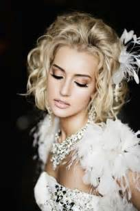 Wedding hairstyles for shoulder length hair with feathers photos